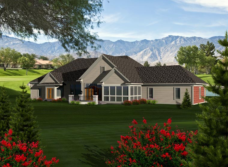 Ranch House Plan 96115 Rear Elevation