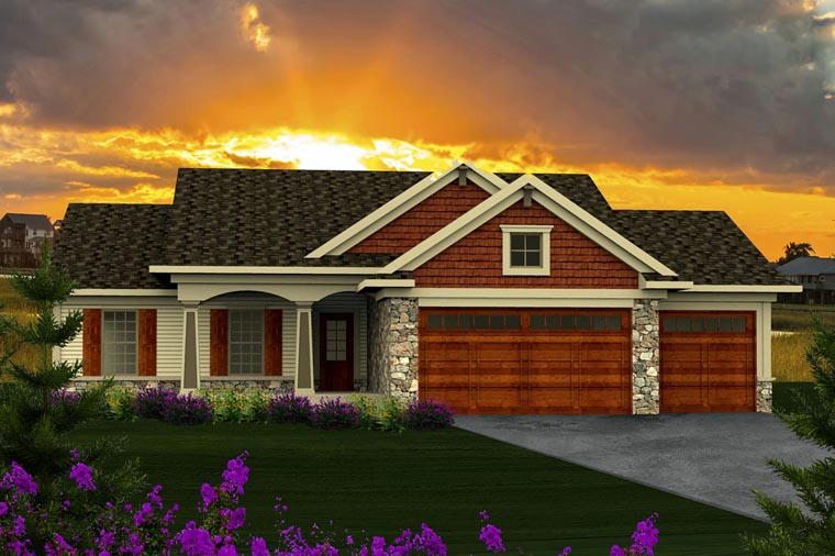 Ranch Style House Plan 96120 With 1351 Sq Ft 3 Bed 1