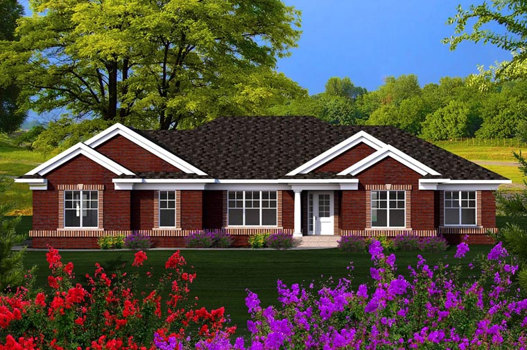 Ranch House Plan 96126 Elevation