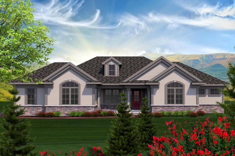 Ranch House Plan 96127 Elevation