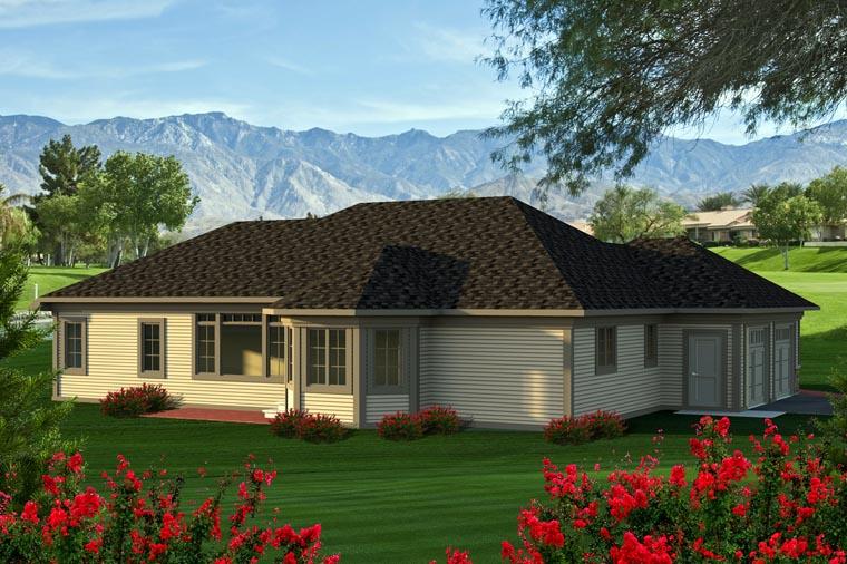 Ranch House Plan 96127 Rear Elevation
