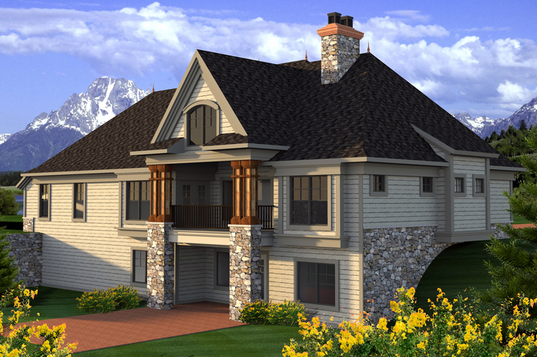 Traditional House Plan 96141 Rear Elevation