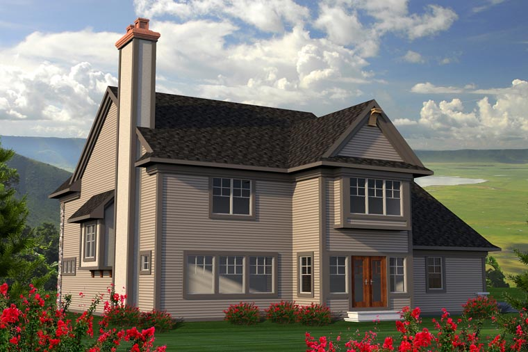 Traditional House Plan 96142 Rear Elevation