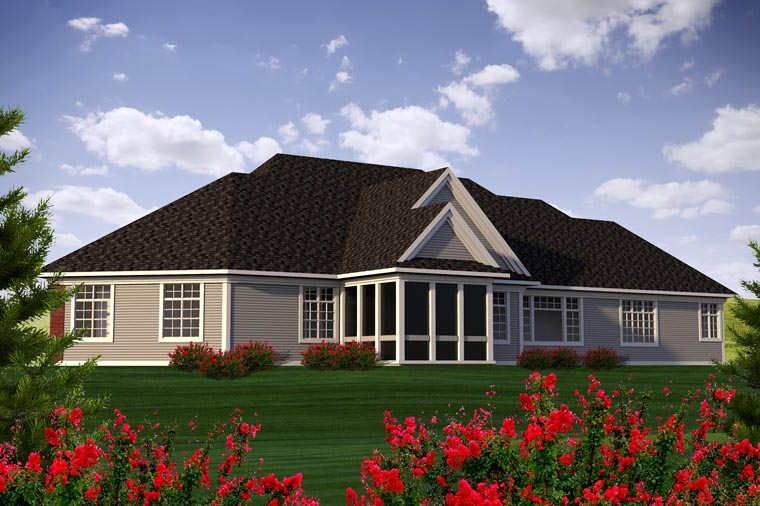 Ranch House Plan 96144 Rear Elevation