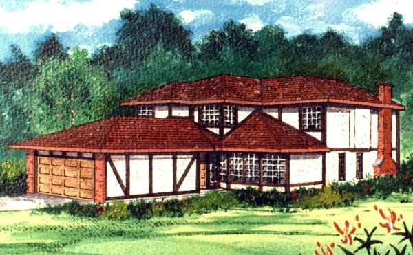 House Plan 96203 Elevation