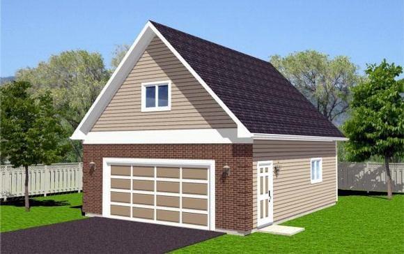 Traditional 2 Car Garage Plan 96208 Elevation