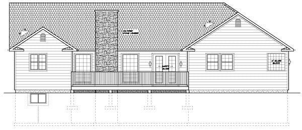 House Plan 96209 Rear Elevation