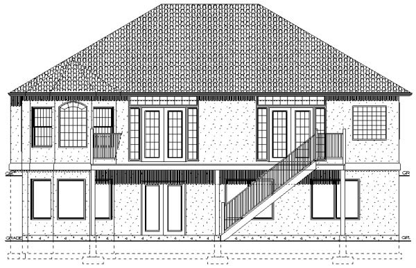 Traditional House Plan 96210 Rear Elevation