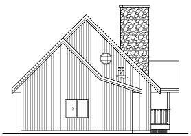 A-Frame House Plan 96212 Rear Elevation