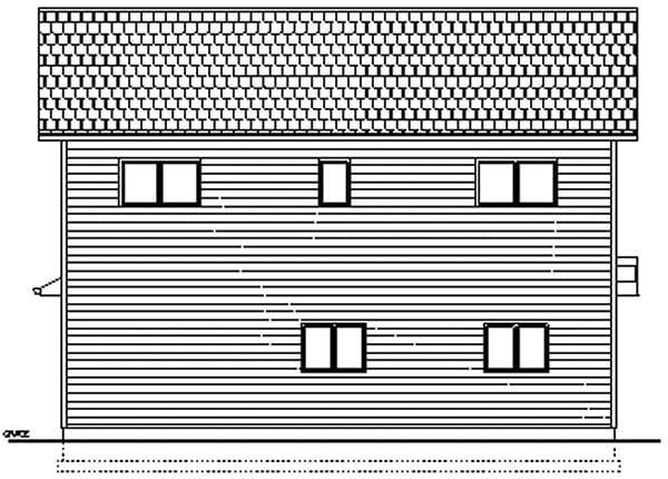 Garage Plan 96214 Rear Elevation