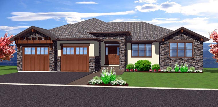 Front Elevation Basements : House plan familyhomeplans