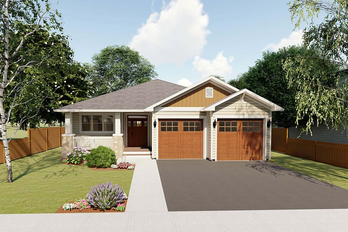 Craftsman Traditional House Plan 96228 Elevation