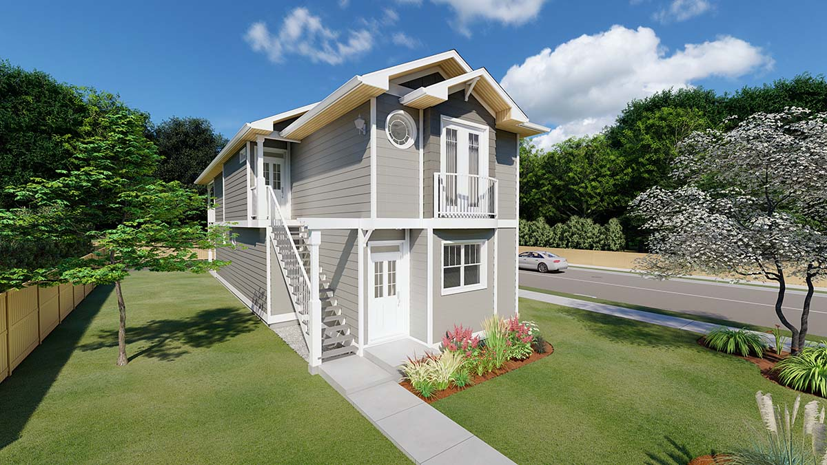 Traditional Multi-Family Plan 96230 Elevation