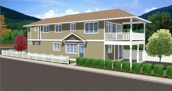 Traditional Multi-Family Plan 96230 with 5 Beds, 4 Baths Picture 1