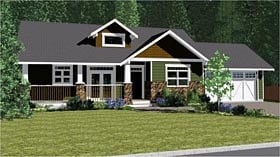 Plan Number 96233 - 1497 Square Feet