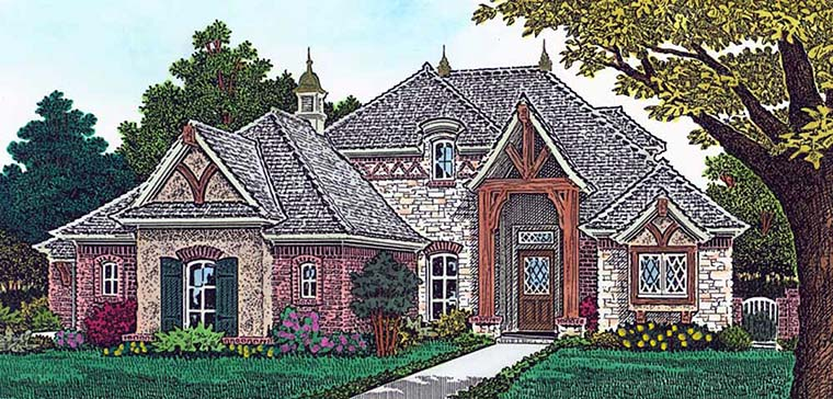 European French Country House Plan 96328 Elevation