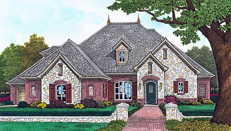 European French Country House Plan 96329 Elevation