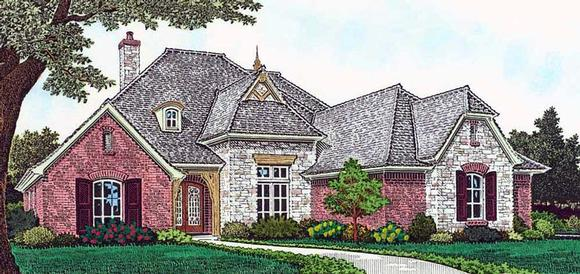 European, French Country House Plan 96341 with 4 Beds, 5 Baths, 3 Car Garage Elevation