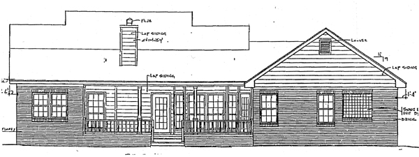 Country House Plan 96506 Rear Elevation
