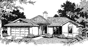 One-Story, Ranch House Plan 96519 with 3 Beds, 2 Baths, 2 Car Garage Elevation