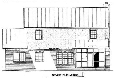 Country House Plan 96541 Rear Elevation