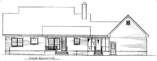 Cape Cod Country House Plan 96542 Rear Elevation