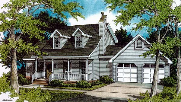 House plan 96544 at for Cape cod garage