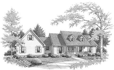 Farmhouse, One-Story House Plan 96558 with 3 Beds, 3 Baths, 2 Car Garage