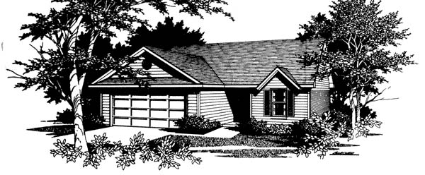 Ranch Traditional House Plan 96570 Elevation