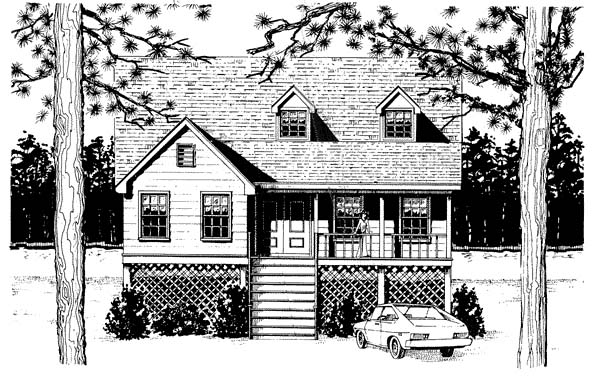 Cape Cod Coastal Country House Plan 96576 Elevation