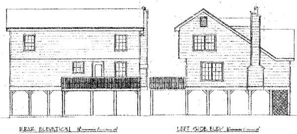 Cape Cod Coastal Country House Plan 96576 Rear Elevation