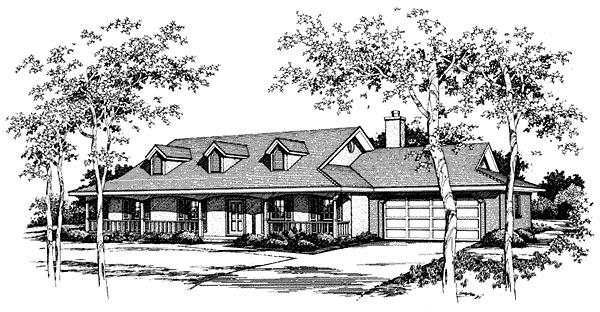 Prairie Style Southwest House Plan 96581 Elevation