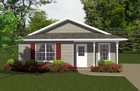 Plan Number 96700 - 736 Square Feet