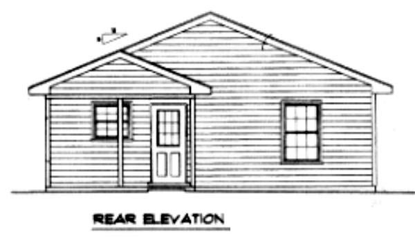 Traditional House Plan 96700 Rear Elevation