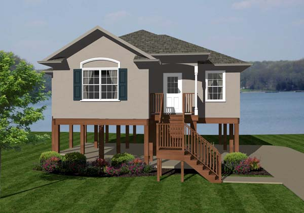 Coastal House Plan 96705 Elevation