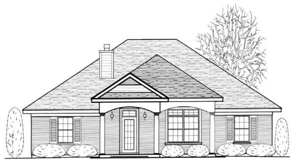 House Plan 96715 Elevation