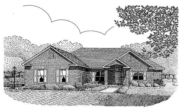 Traditional House Plan 96817 Elevation