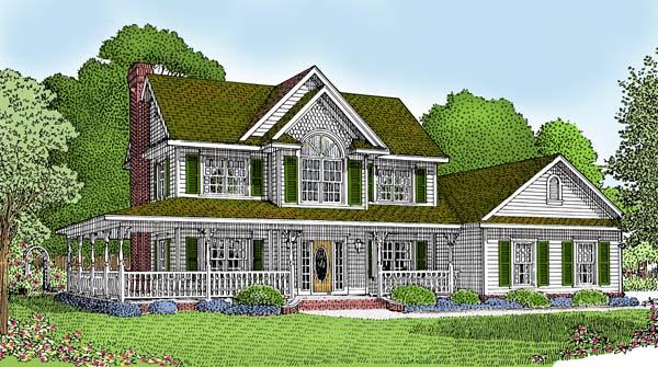 Farmhouse House Plan 96819
