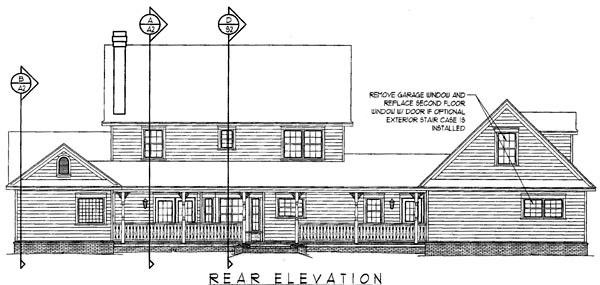 Country Farmhouse House Plan 96823 Rear Elevation