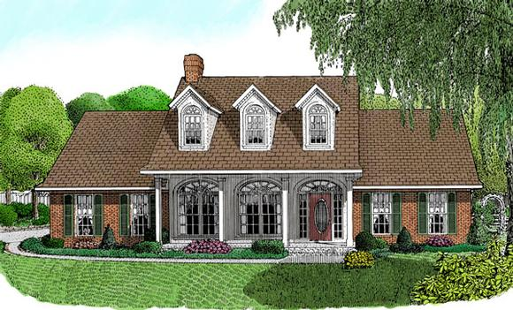 Country House Plan 96824 with 3 Beds, 3 Baths, 2 Car Garage Elevation