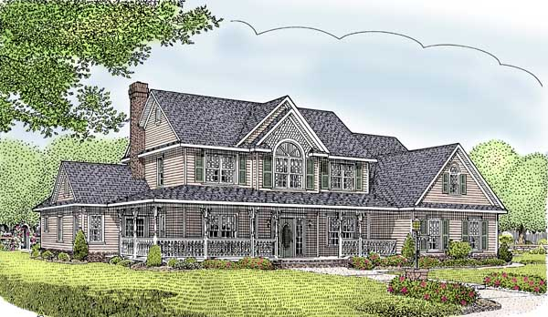 Farmhouse House Plan 96828