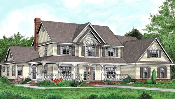 Country Farmhouse House Plan 96840 Elevation