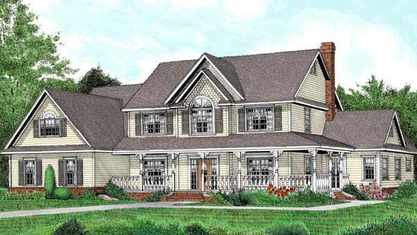 Farmhouse House Plan 96841