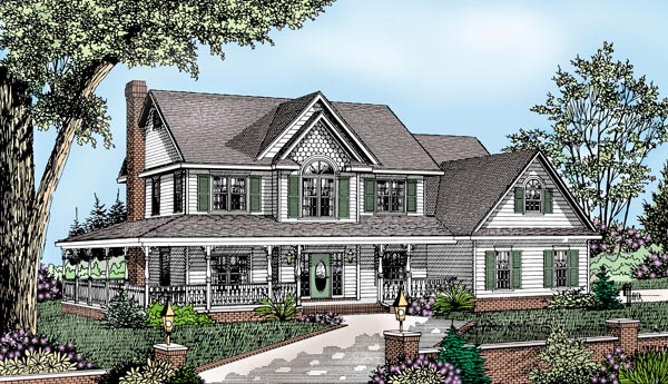 Country Farmhouse House Plan 96861 Elevation