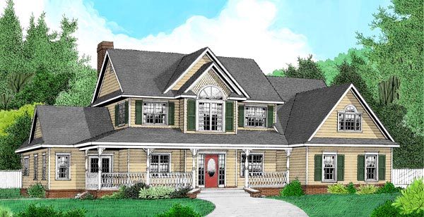 Country Farmhouse House Plan 96863 Elevation