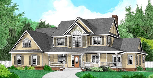 Country Farmhouse House Plan 96866 Elevation