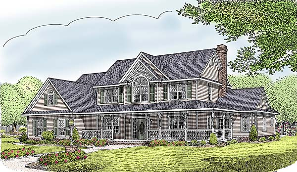 Farmhouse House Plan 96876