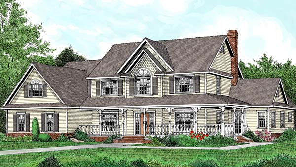 Country Farmhouse Traditional House Plan 96880 Elevation