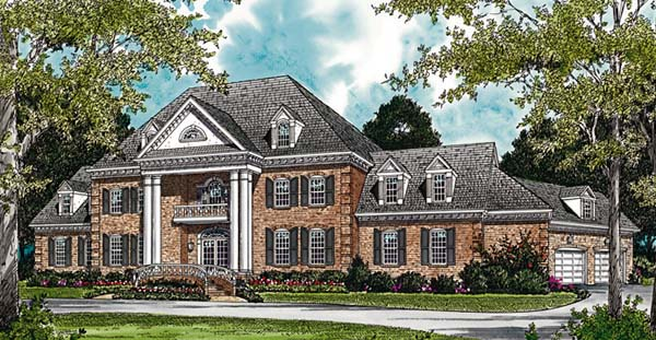 Colonial House Plan 96904 Elevation