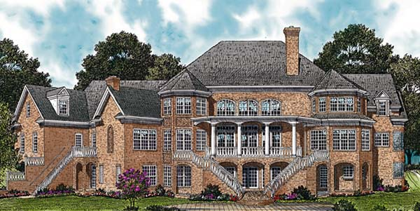 Colonial House Plan 96904 Rear Elevation